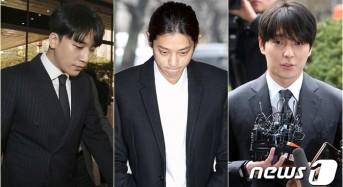 '집단 성폭행' 최종훈·'성매매 알선' 승리 소환