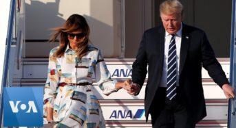트럼프, 스모보고…골프치고…