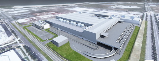 다이슨 의 싱가포르 전기차 제조 시설 렌더링 이미지.