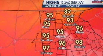 애틀랜타, 60년만에 가장 더웠다