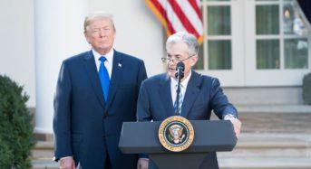 """파월 """"미국경제 좋다""""…트럼프 """"연준, 아무 일도  안해"""""""