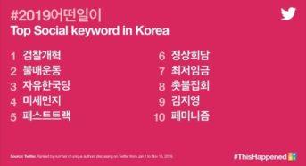 트위터로 돌아본 2019년 한국 트렌드
