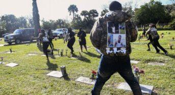 피살된 10대 아들 장례식서 어머니도 총맞아