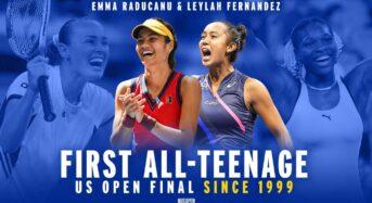 US오픈 테니스 여자단식 결승은 19세 맞대결