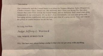 시카고 한인식당에 인종차별 협박편지 배달
