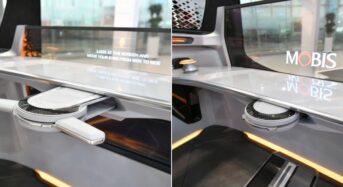 현대모비스 '접고 펼치는 운전대' 개발